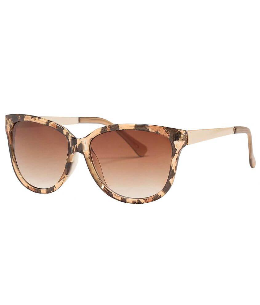 BKE Animal Print Sunglasses front view