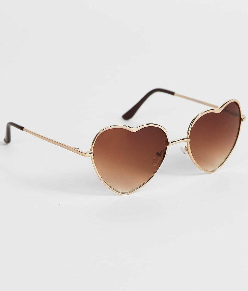 BKE Heart Sunglasses front view