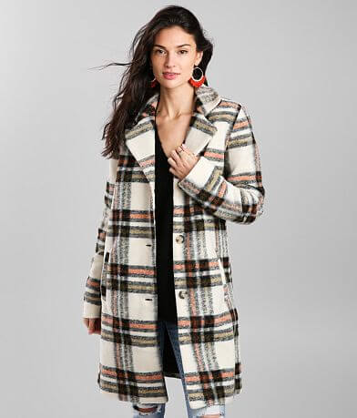 Vigoss Plaid Trench Coat