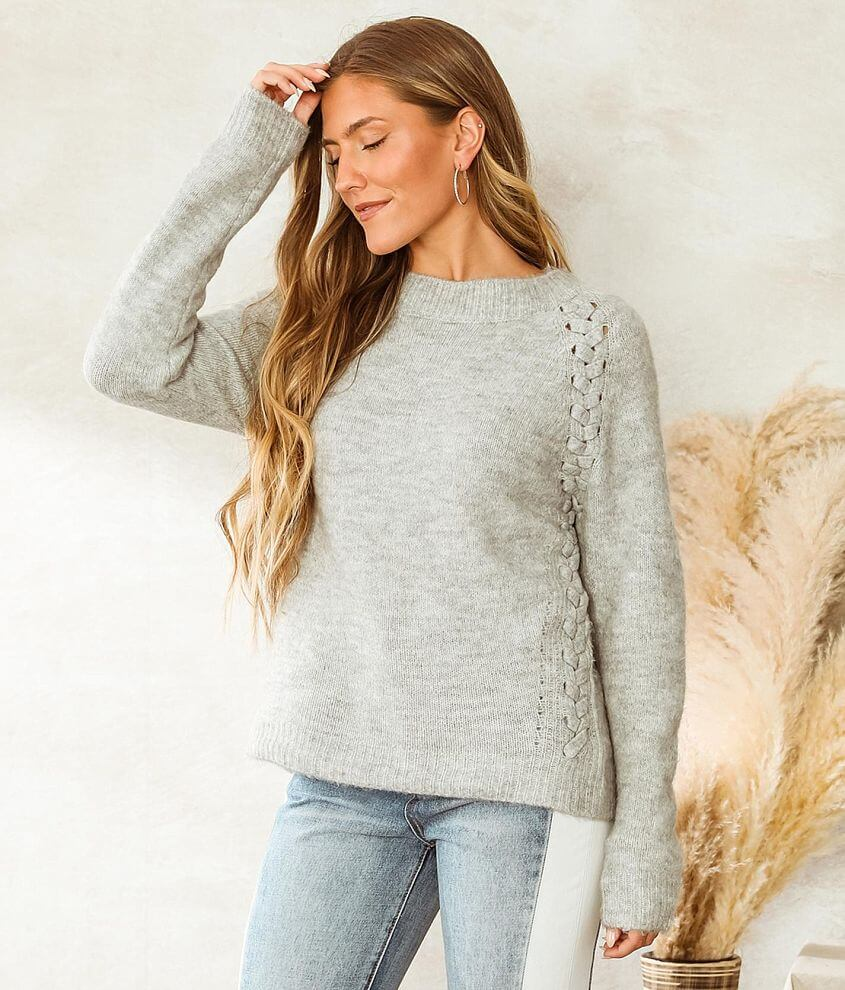 Vigoss Lace-Up Sweater front view