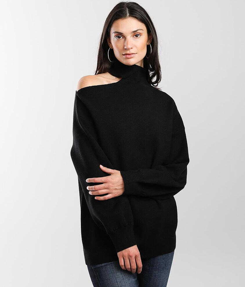 Vigoss Cold Shoulder Sweater front view