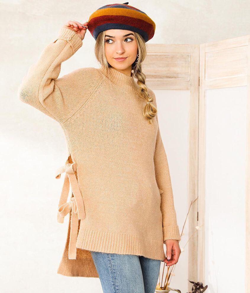 Vigoss Mock Neck Tunic Sweater front view