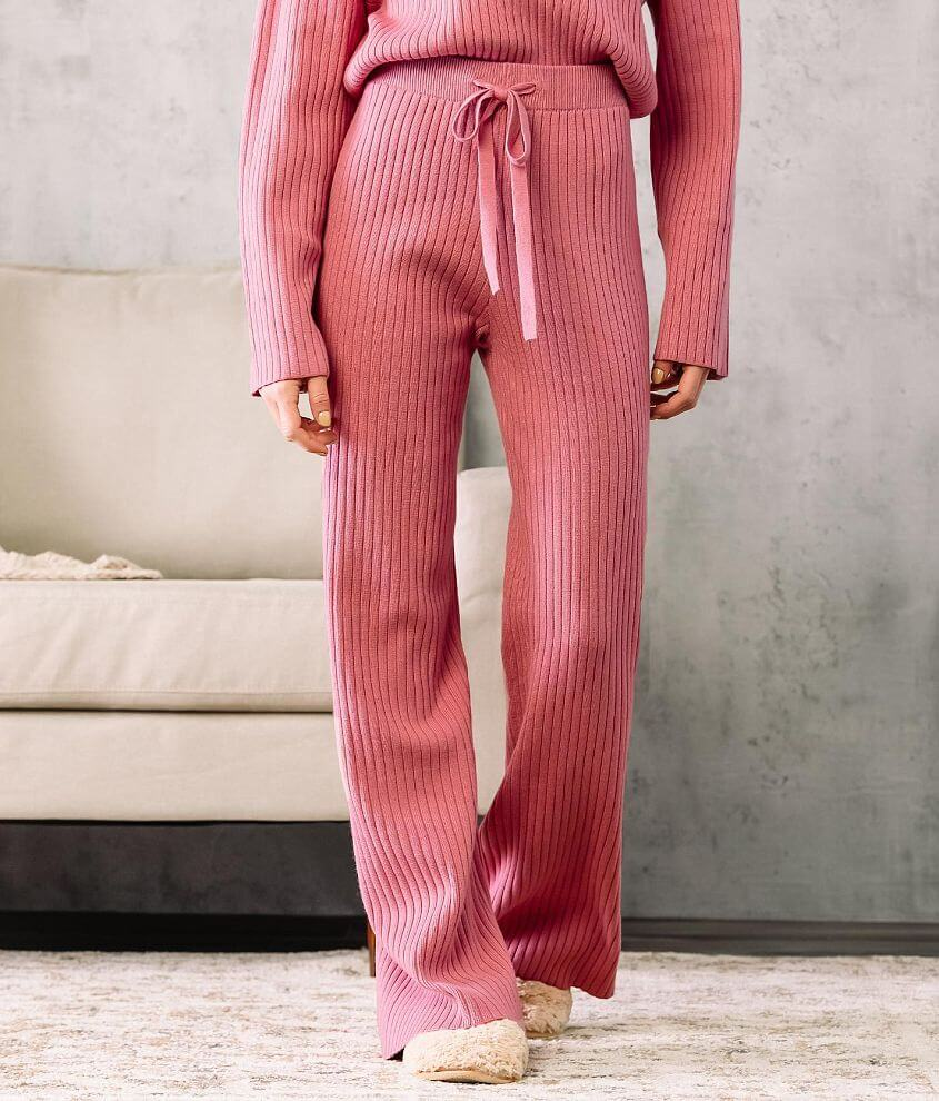 Fade by BKE Ribbed Wide Leg Pant