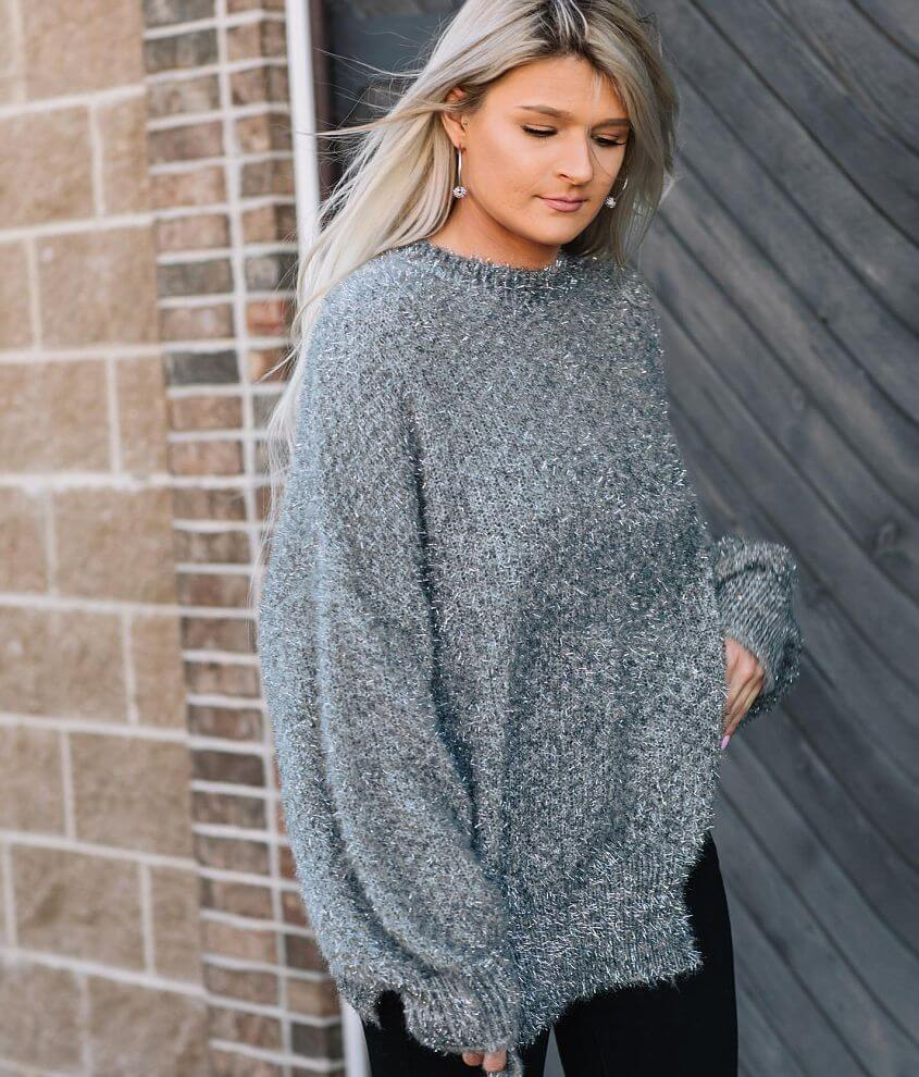 Willow & Root Tinsel Pullover Sweater front view