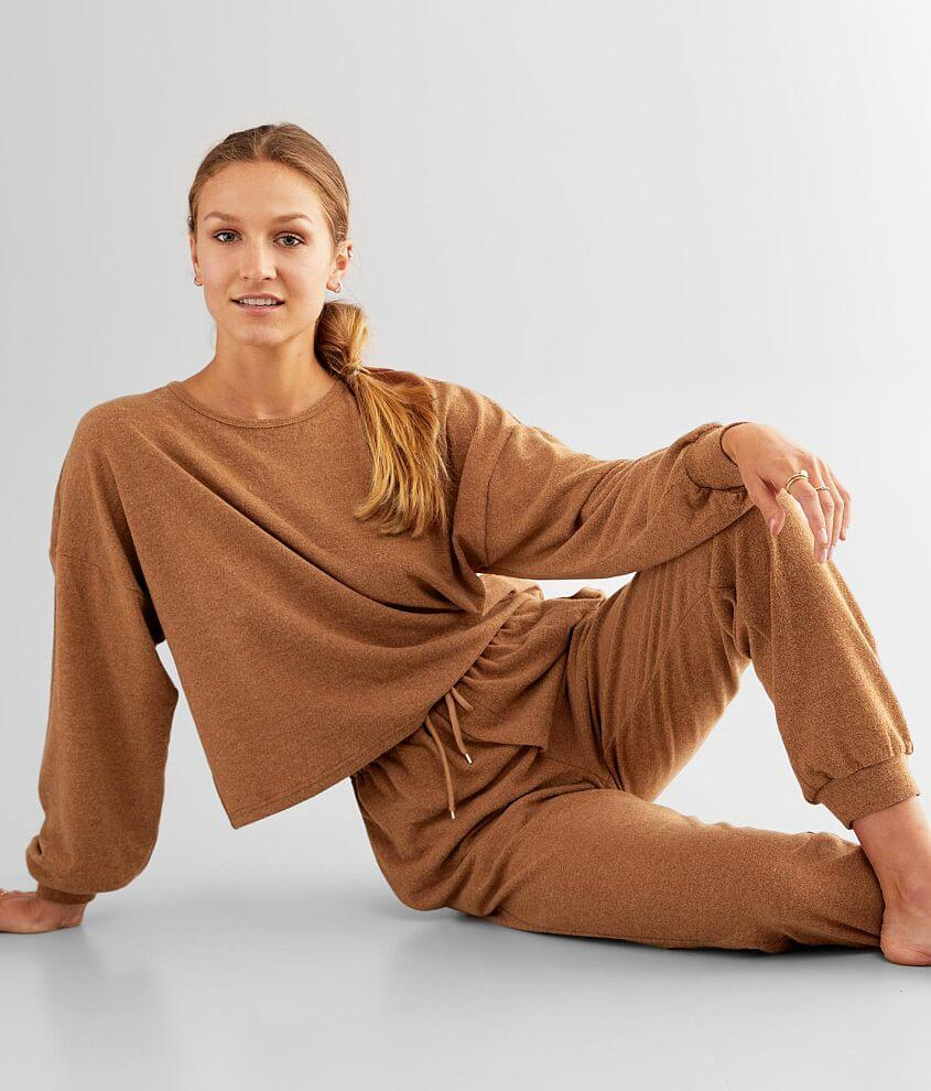 BKE Hacci Knit Drop Shoulder Pullover front view