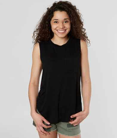 FITZ + EDDI Droop Pocket Tank Top