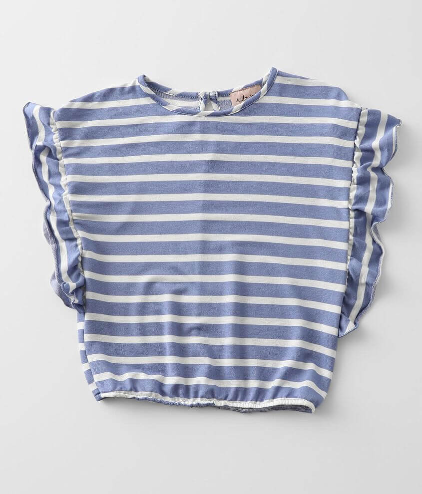 Girls - Willow & Root Striped Top front view