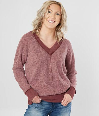 BKE Reverse Fleece Top