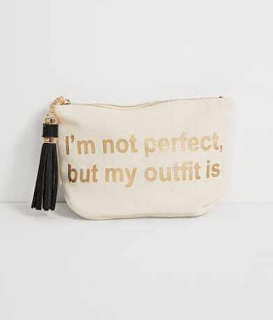 Violet Ray I'm Not Perfect Cosmetic Bag