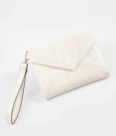 Violet Ray Metallic Envelop Wristlet