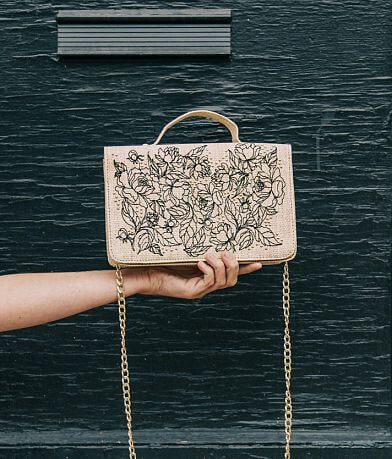 Abbie & Emmie Floral Embroidered Purse