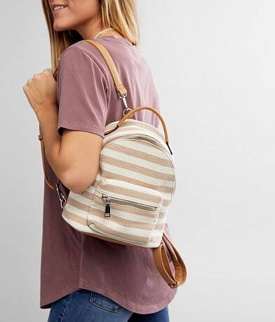 Violet Ray Striped Mini Backpack