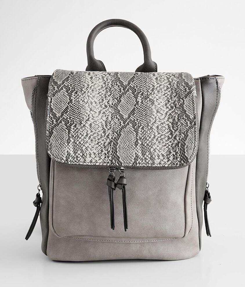 Violet Ray Kendall Snake Print Backpack front view
