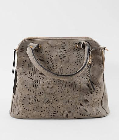 Violet Ray Perforated Satchel Crossbody Purse