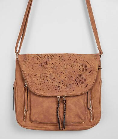 Violet Ray Perforated Crossbody Purse