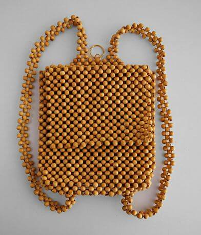Violet Ray Wood Bead Backpack