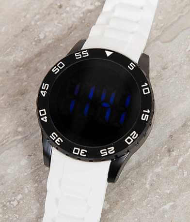 Accutime White Watch