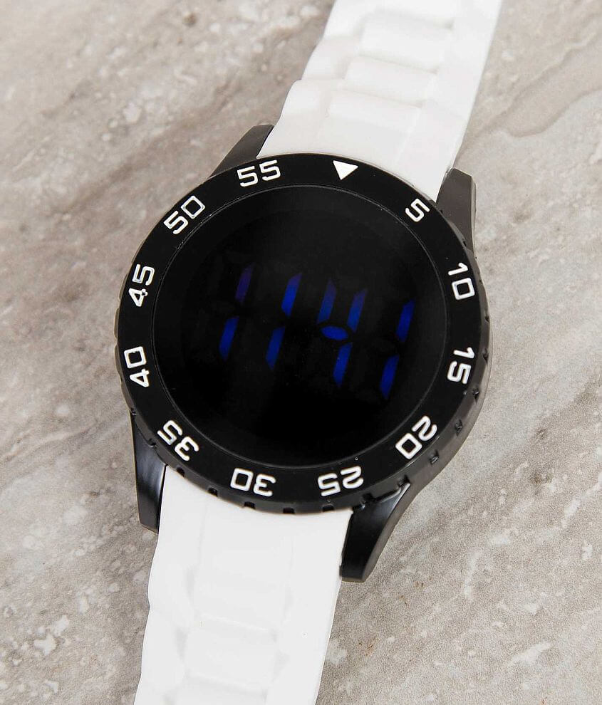 Accutime White Watch front view