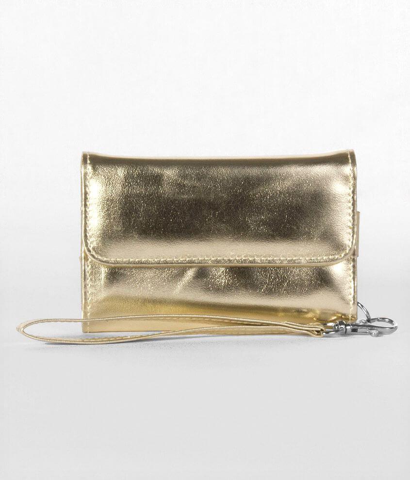 Metallic Foldover Phone Wallet front view