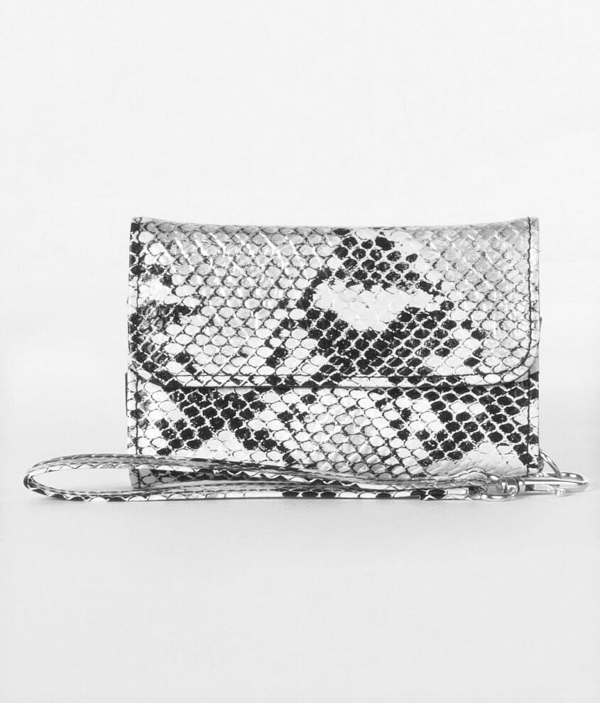 Snake Print Phone Wallet front view