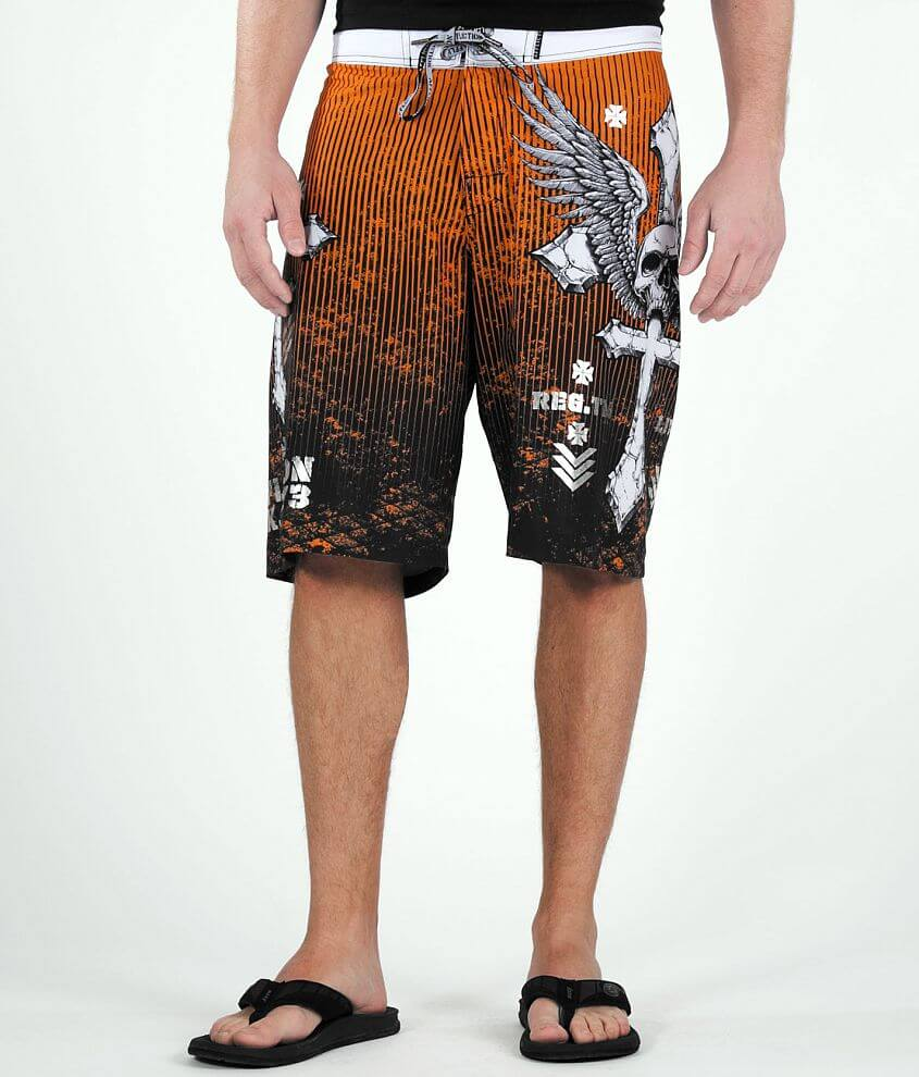 Affliction Tronic Boardshort front view
