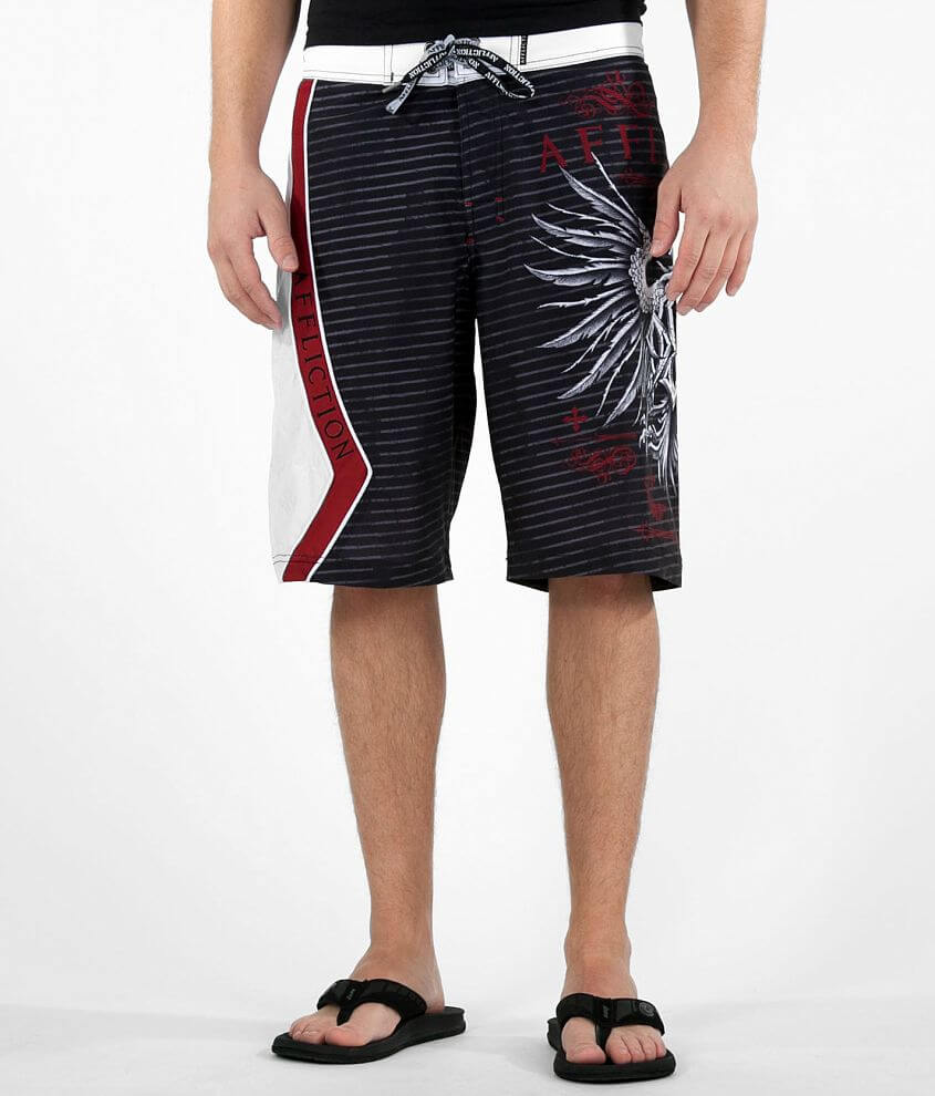 Affliction GSP Icon Boardshort front view