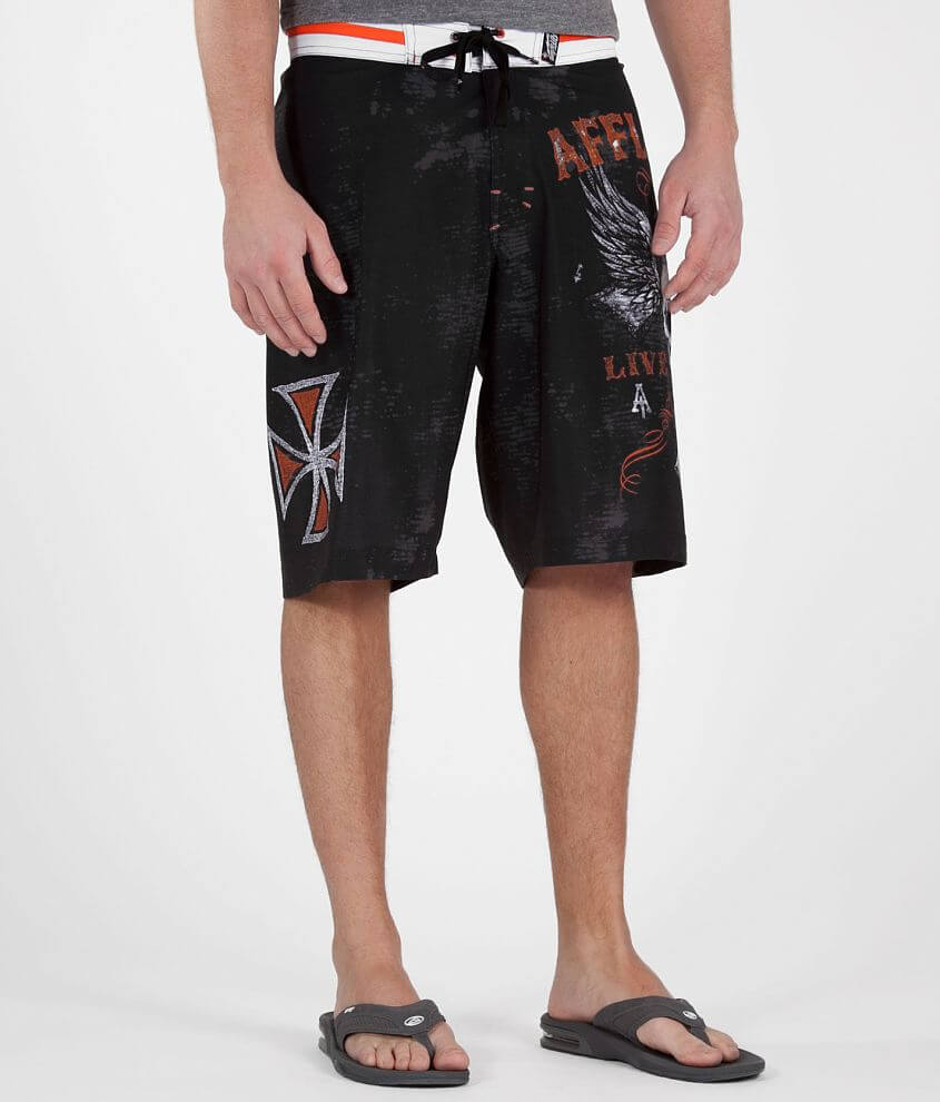 Affliction Live Fast Boardshort front view