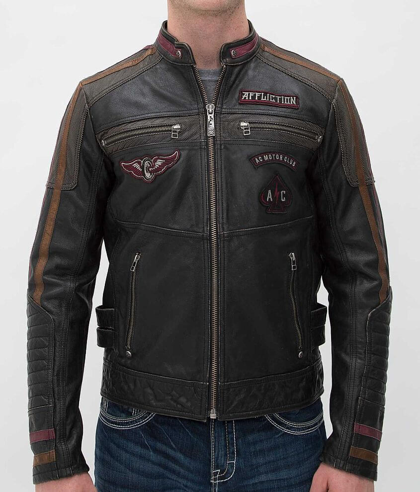 Affliction Built For Speed Jacket front view