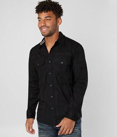 Affliction Black Premium Undertake Stretch Shirt