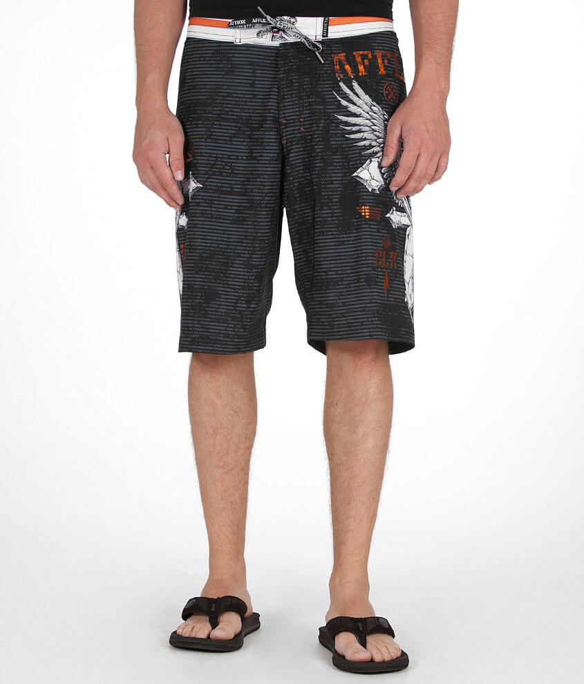 Affliction Do It Again Stretch Boardshort front view