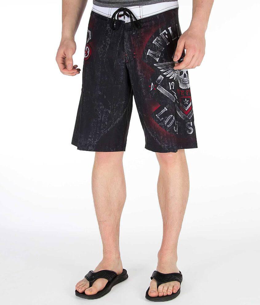 Affliction Black Premium Standard Boardshort front view