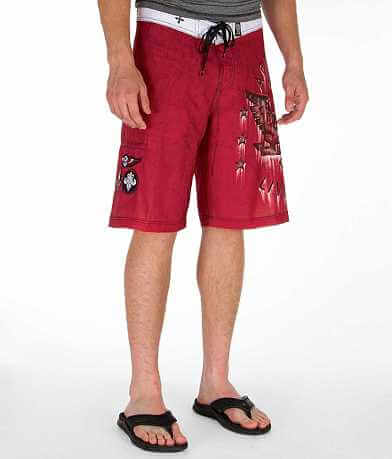 Affliction Black Premium Traction Boardshort