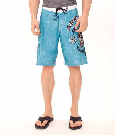 Affliction Black Premium Arrow Stretch Boardshort