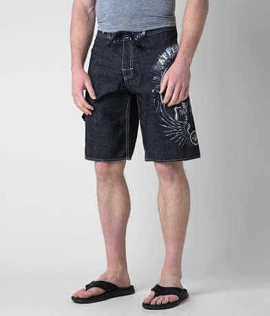 Affliction Black Premium Thunderfoot Boardshort