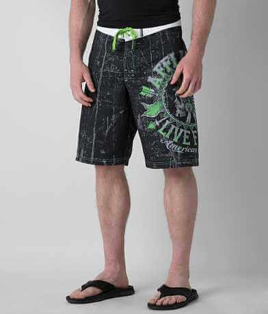 Affliction Black Premium Stampede Boardshort