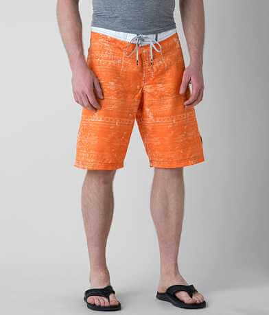 Affliction Black Premium Hostel Stretch Boardshort