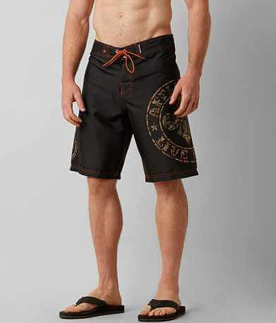 Affliction Black Premium Divio Stretch Boardshort
