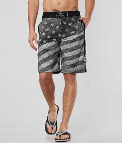 Affliction Black Premium Patriot Boardshort