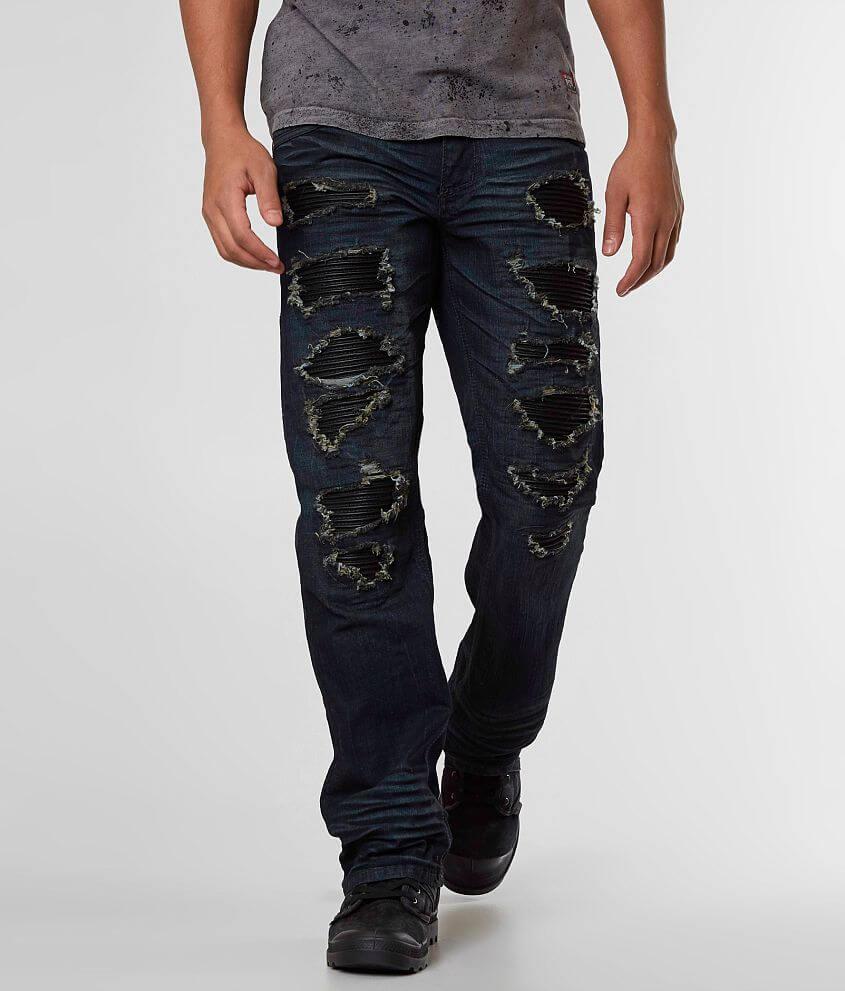 Affliction Black Premium Cooper Straight Jean front view