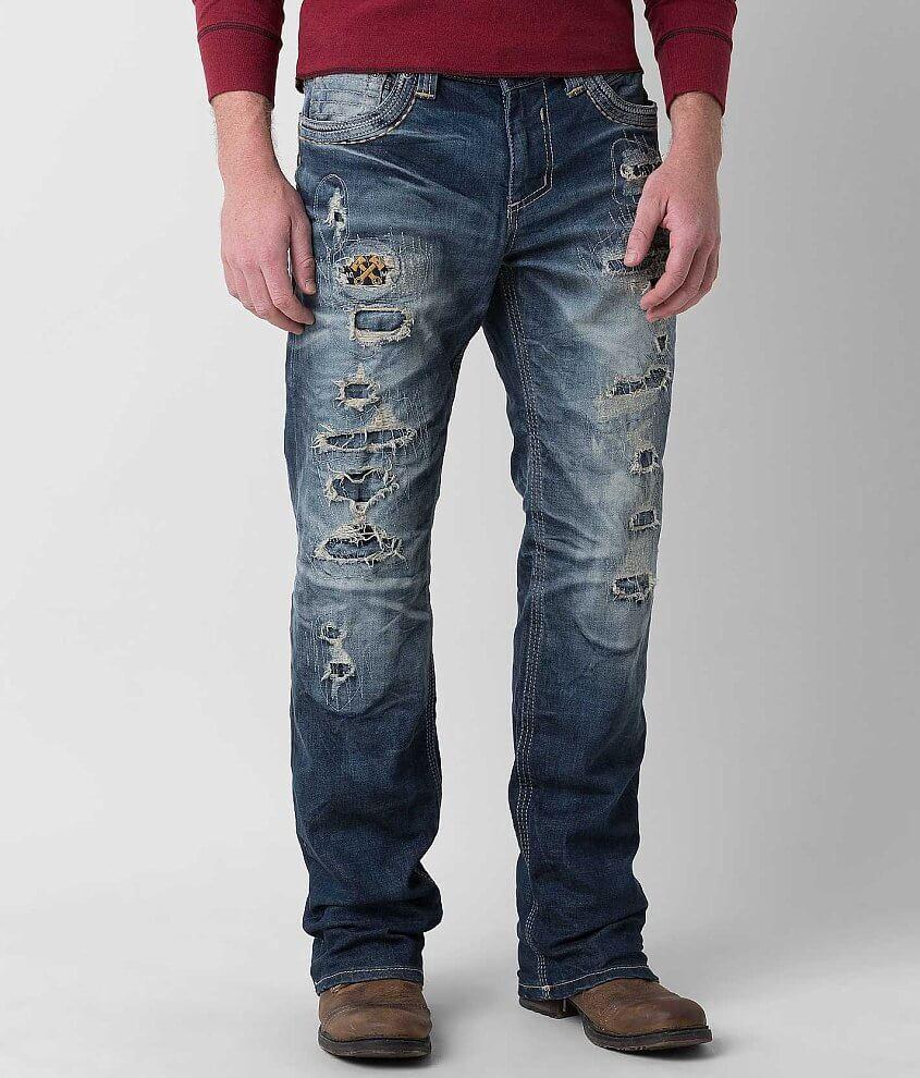 Affliction Black Premium Grant Apex Stretch Jean front view