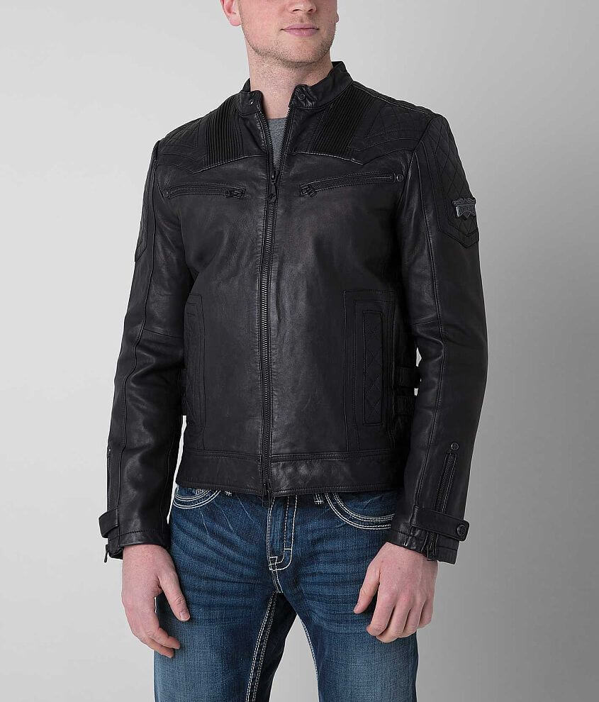 Affliction Black Premium On Fire Jacket front view