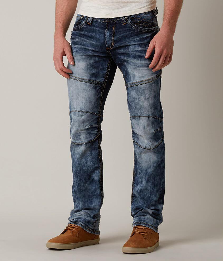 Affliction Black Premium Ace Rising Moto Jean front view