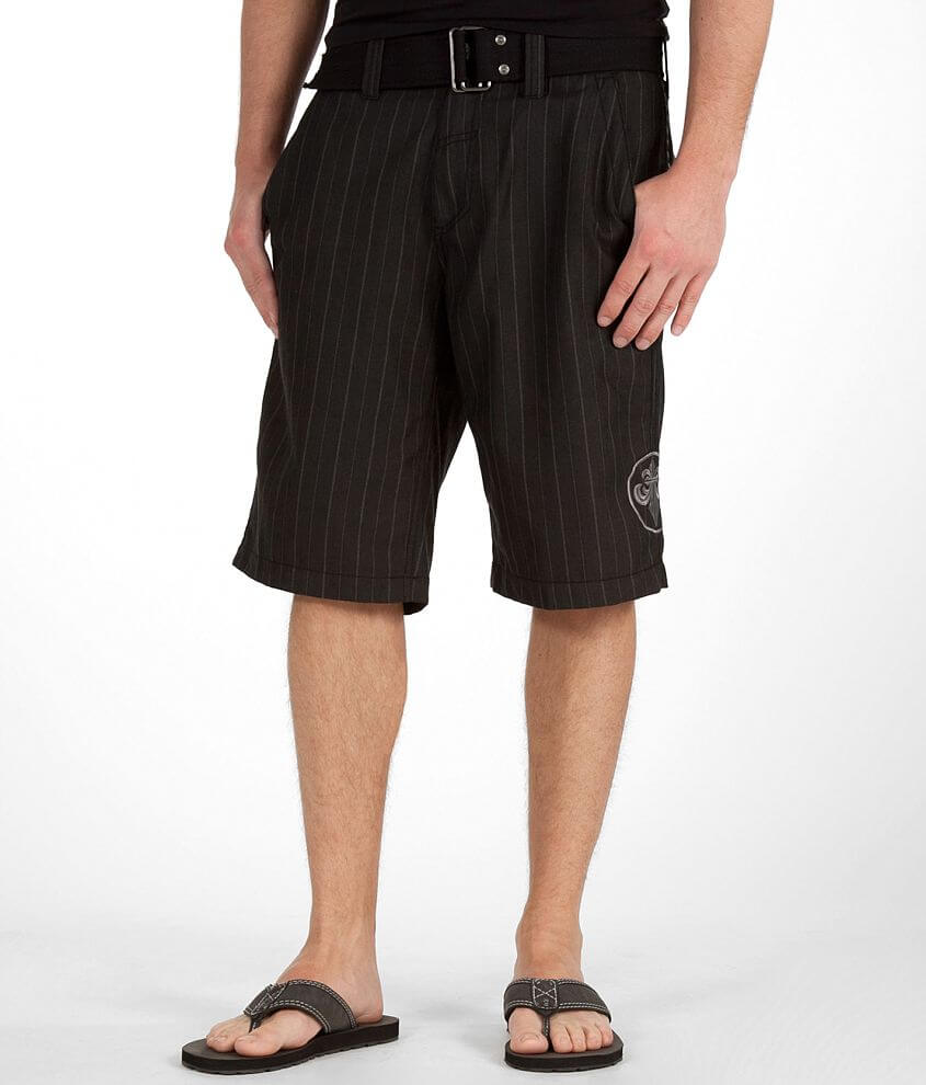 Affliction Black Premium Walking Tall Walkshort front view