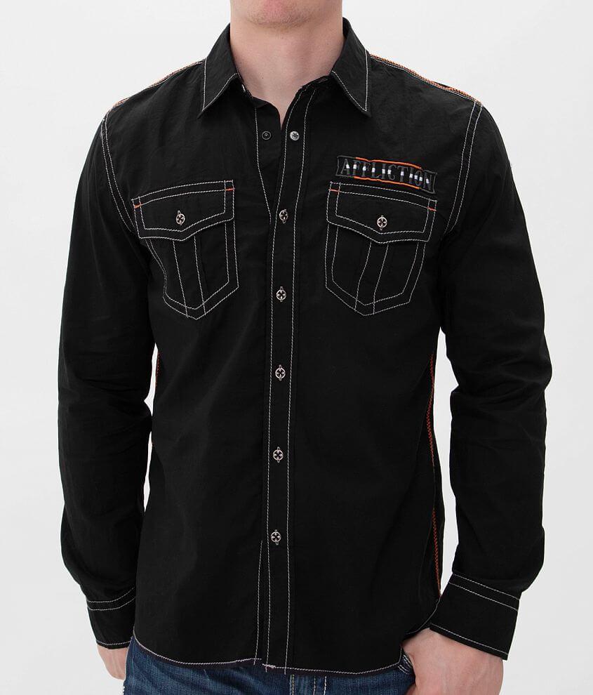 Affliction Black Premium Don't Happen Shirt front view
