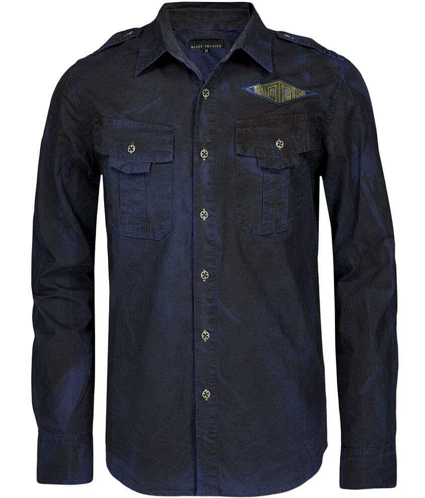 Affliction Black Premium Faster Road Shirt front view