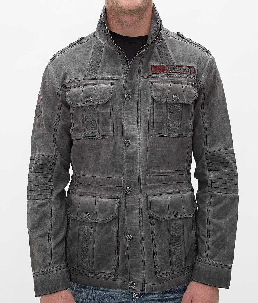 Affliction Black Premium Fast And Loud Jacket front view