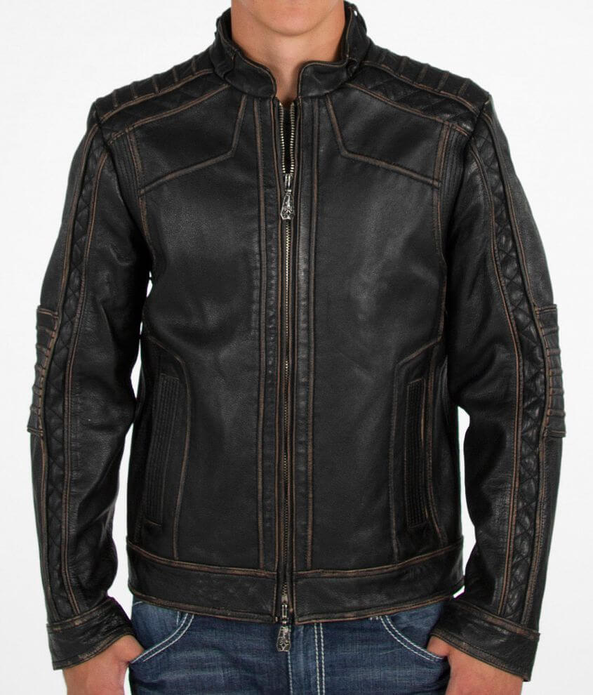 Affliction Black Premium Ghost Rider Jacket front view