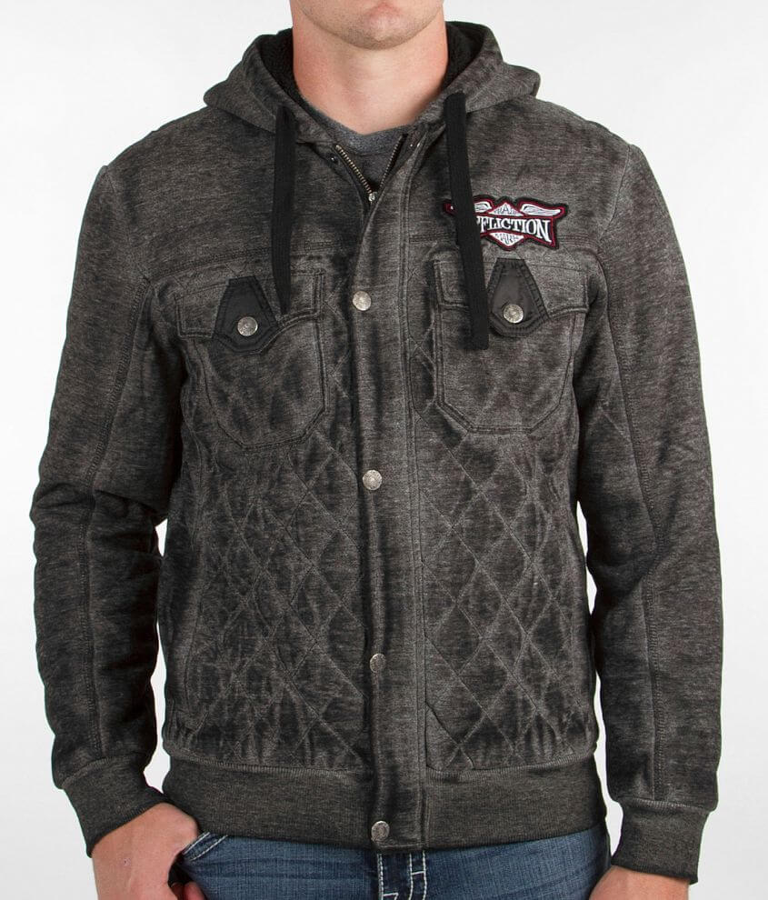 Affliction Big Chill Hooded Sweatshirt front view