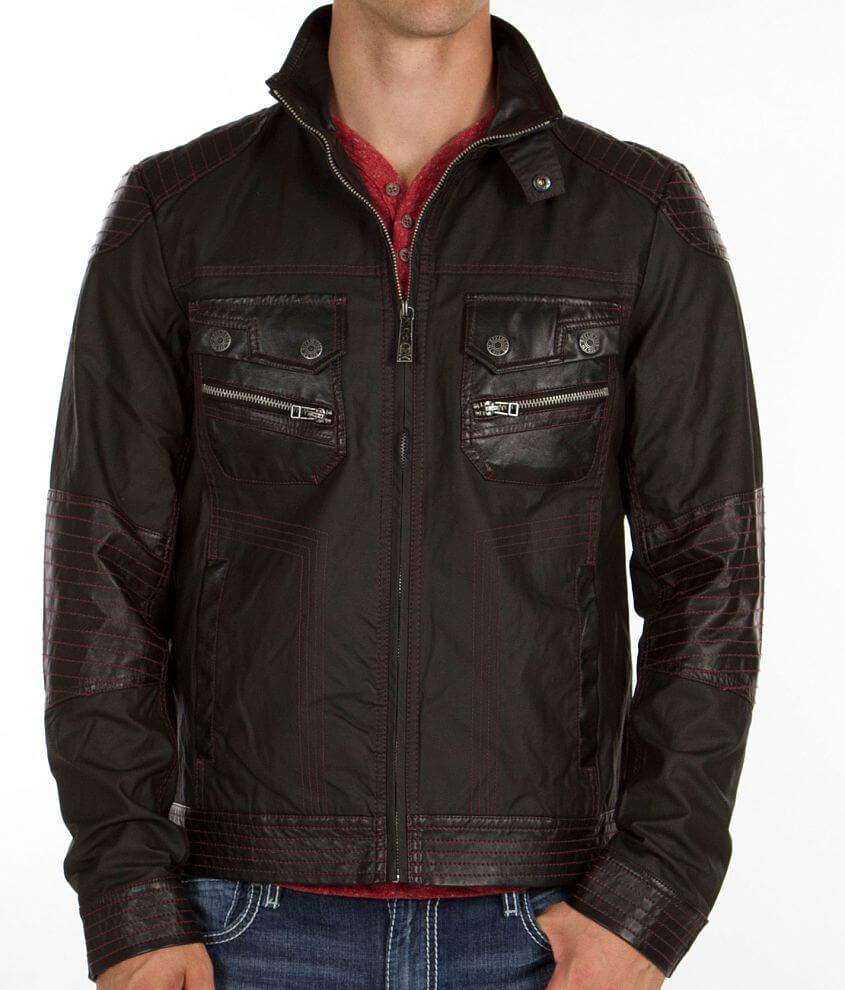 Affliction Black Premium Metal Torch Jacket front view
