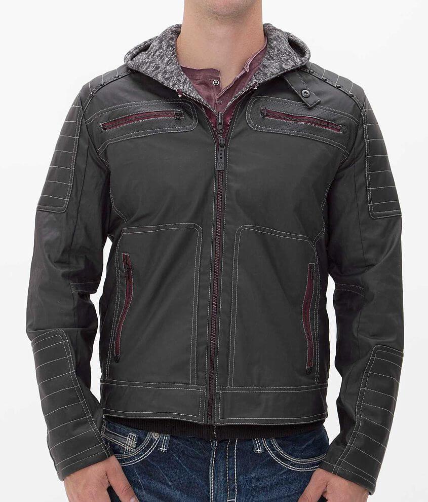 Affliction Black Premium Half Measure Jacket front view